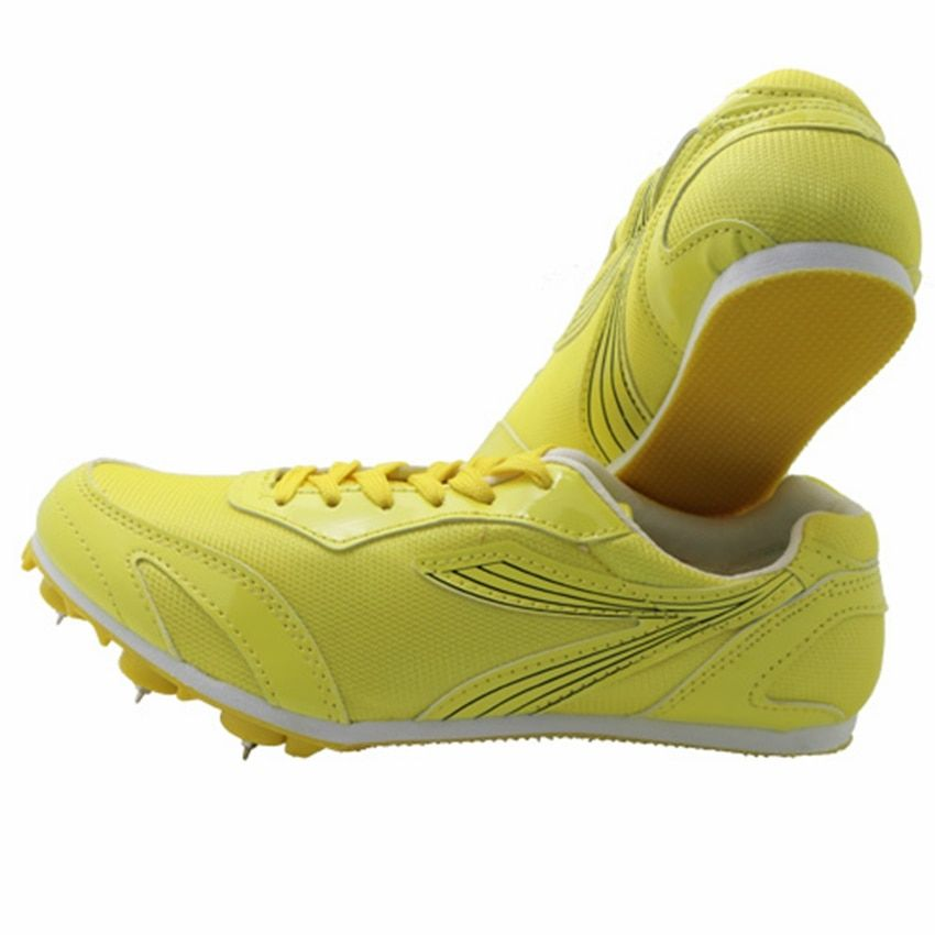 men dash sprint sport spikes running shoes breathable ultra light track field training shoes athletic running shoes sneakers men