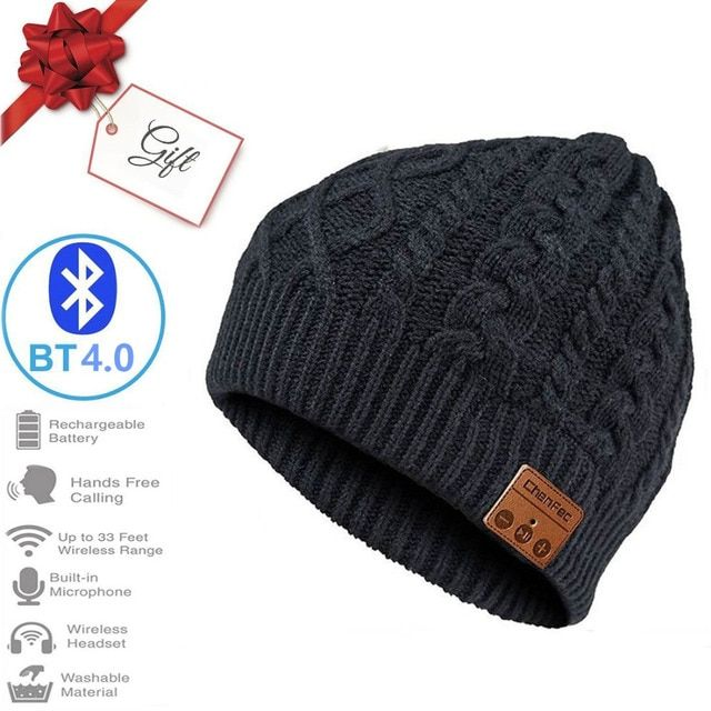 2018 New Fashion Winter Wireless Bluetooth 4.0 Music Player Hat Earphone Headset Stereo Magic Music Beanie Hat Christmas Gift
