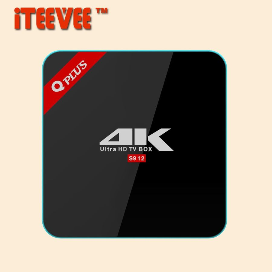 [iTEEVEE]Q box plus Amlogic 912 Android Tv Box 6.0 2G/3G 16G/32G 1000M LAN Wifi  Kdplayer smart media player Q plus