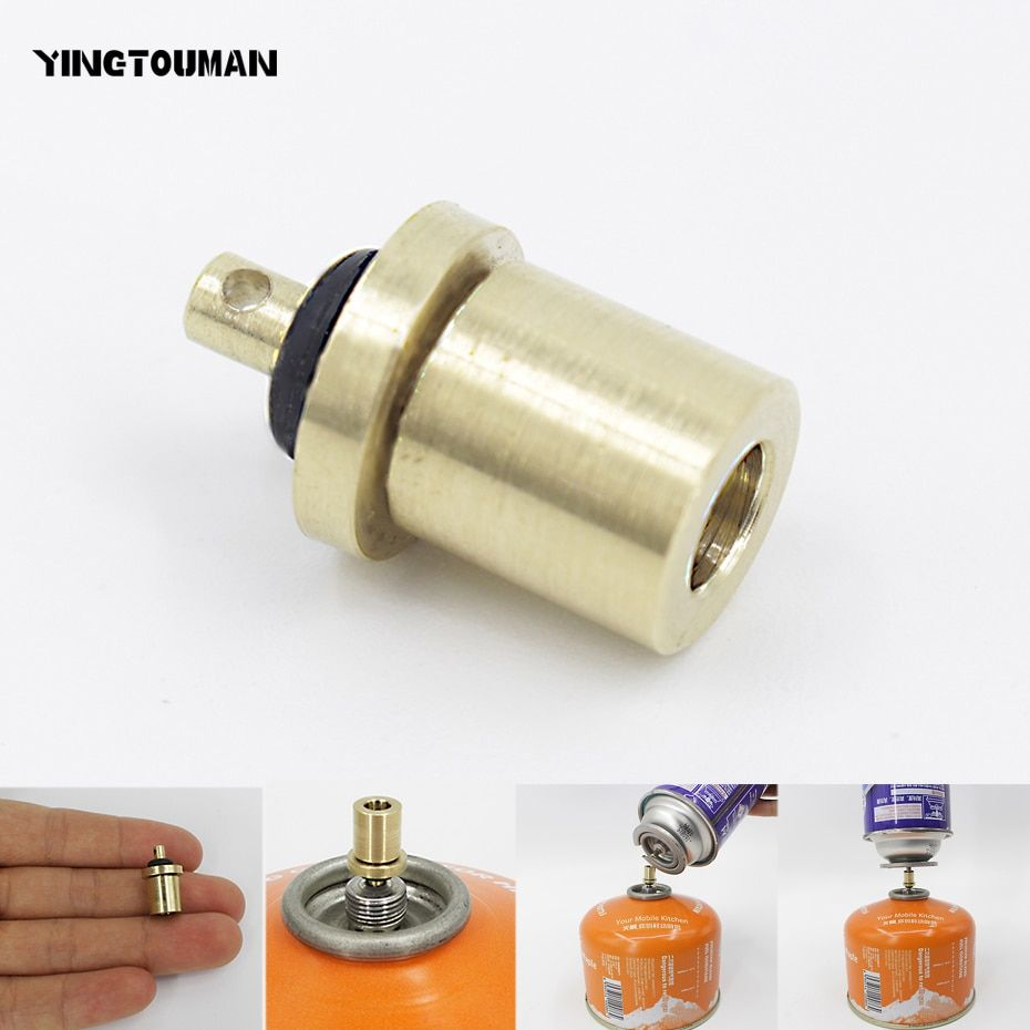YINGTOUMAN Gas Refill Adapter Outdoor Camping Stove Gas Cylinder Gas Tank Gas Burner Accessories Hiking Inflate Butane Canister