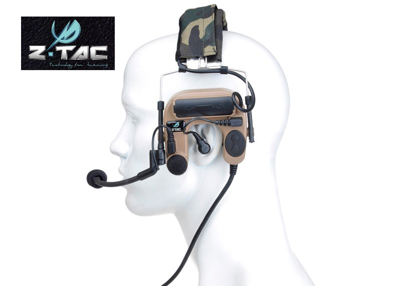 Z-TAC ZCOMTAC IV In-The-Ear Tactical Noise Reduction Headset+Free shipping(Z060015)