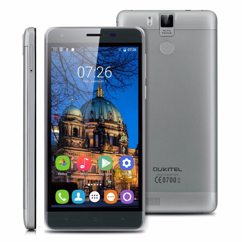 Refurbished OUKITEL K6000 Pro Android 6.0 Cell Phones MTK6753 Octa cores 3G RAM 32G ROM Smartphone 5.5 Inch 6000mAh Mobile Phone