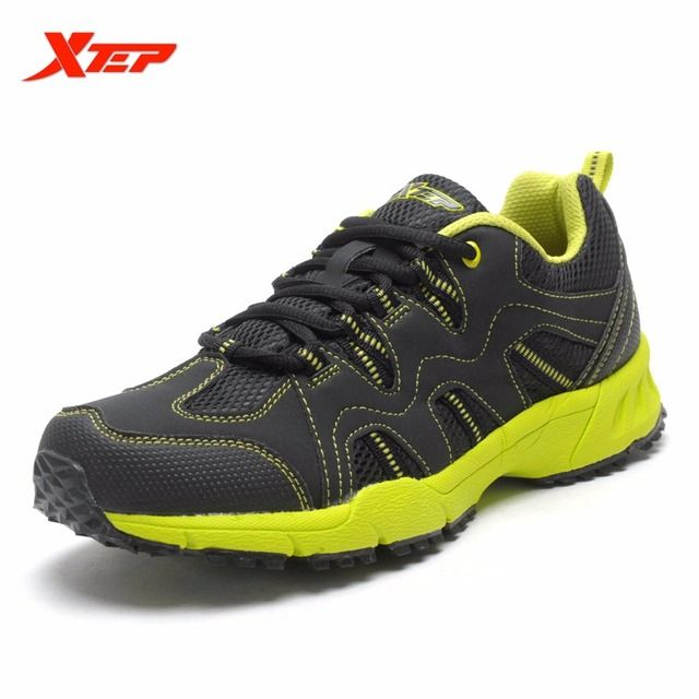 XTEP Men Mountaineering Trek Breathable Sport Shoes Trainers Hikers Shock Absorption Outdoor Climbing Rubber Shoes 988319179112