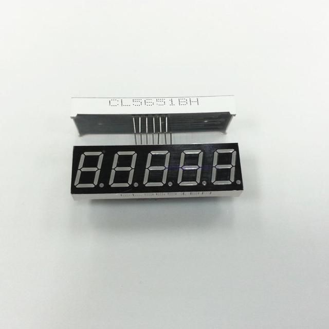 "0.56"" inch five digital red common cathode , 5651 digital 7 segment red led display  5 digits LED module"