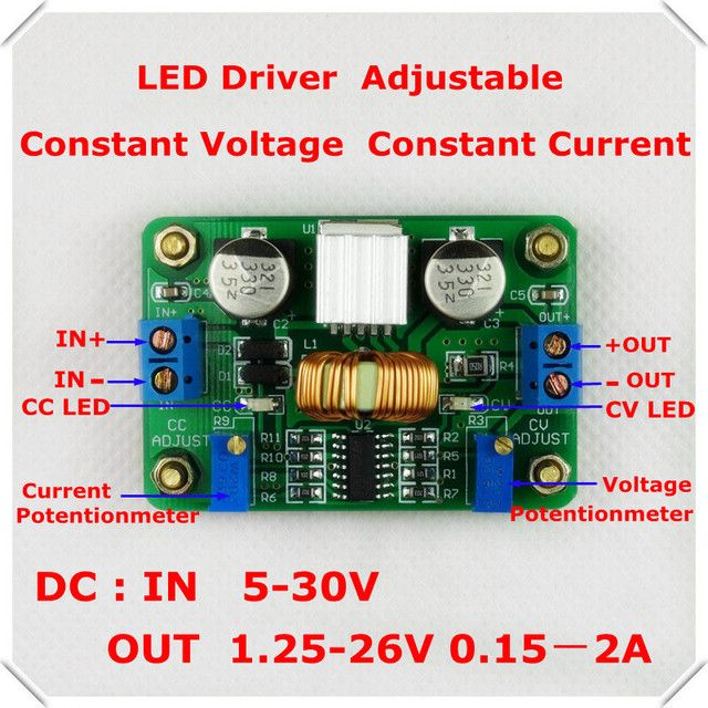 RD LED Driver 12V/5V 2A DC-DC constant voltage constant current  adjustable buck converter step-down power supply module