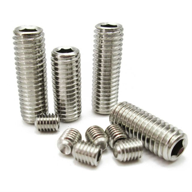 304 Stainless Steel Flat End Of Set Screw M6 * 30
