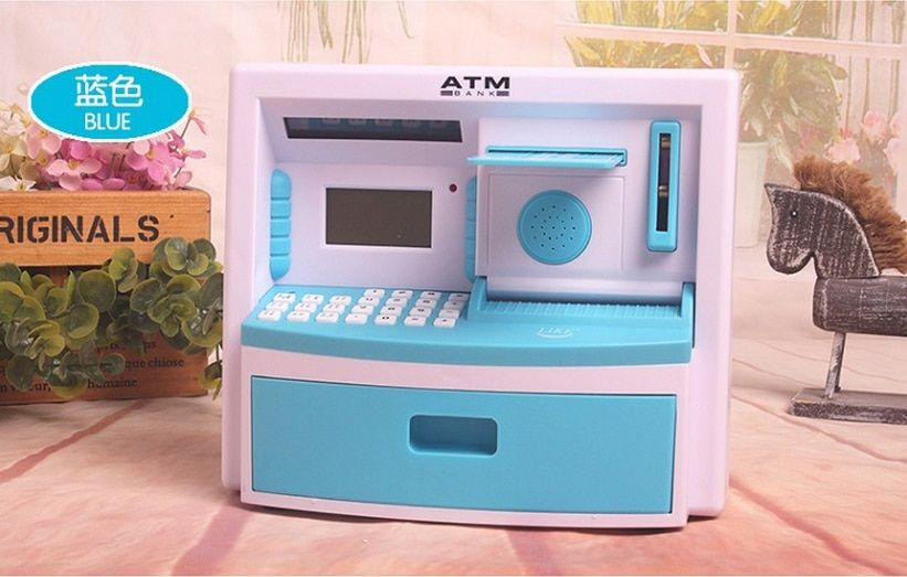 5 color Creative Electronic Piggy Bank Mini ATM Money Box For Gift Kids Safety Music Password Saving Coins Cash Chinese Speech