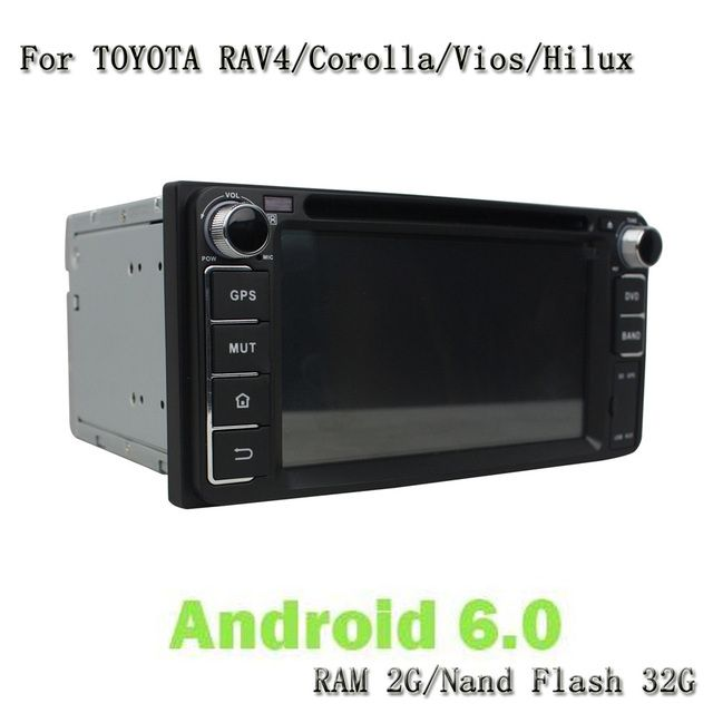 Android 6.0 Car DVD Video Player GPS Multimedia For Toyota RAV4 Corolla Vios Hilux Land Cruiser Fortuner Prado Terios 2006-2010