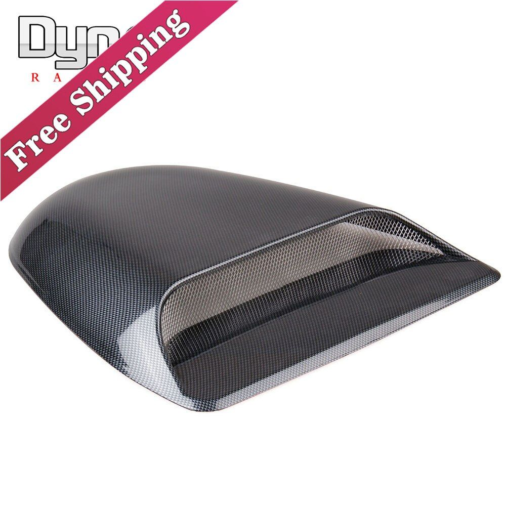 Dyno  Free Shipping  Carbon Car decorative Air Flow Intake hood Scoop Vent Bonnet Cover black