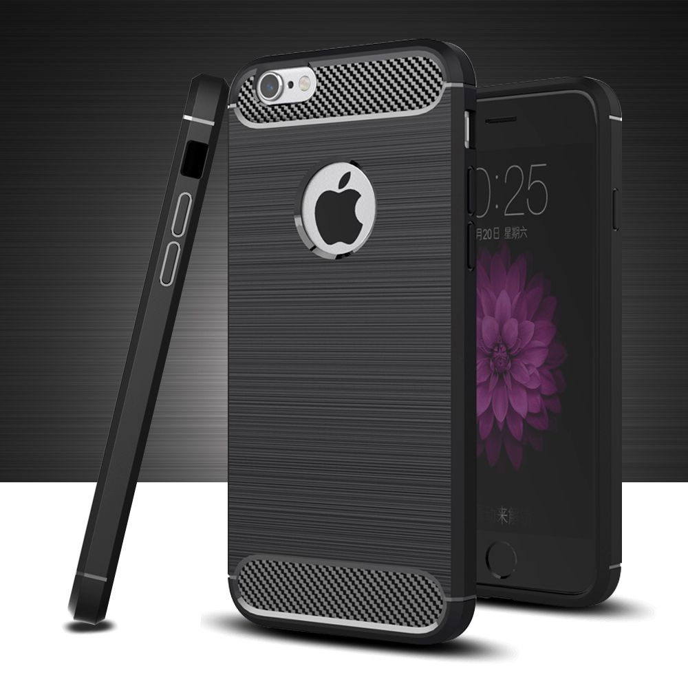 Silicone case for iphone 6 case back bumper 3D Texture TPU Anti-knock covers funda case for iphone 5s se 6 6s 7 8 plus coque