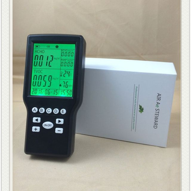 2 in1 formaldehyde TVOC air quality detector for indoor use