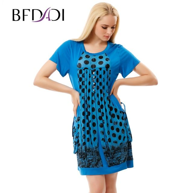 BFDADI Brand Dress Summer Women High Quality Draped Patchwork Pockets Mini Dress Casual Short Sleeve Slim Women's Dresses 3239