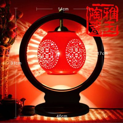 Antique Table Lamp Wedding Gift  Led  Chinese Style Ceramic Desk Lamp Home Deco E27 110V 220V Lamp For Bedroom Lamp LED
