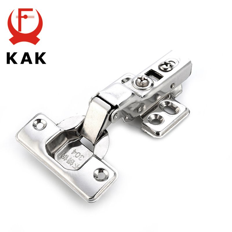 KAK C Series Stainless Steel Hydraulic Hinges Damper Buffer Soft Close For Cabinet Cupboard Door Hinge Furniture Hardware