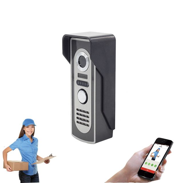Aly802 WiFi Video Door Phone Peephole Camera 720P Night Vision Built-in 8GB TF Card