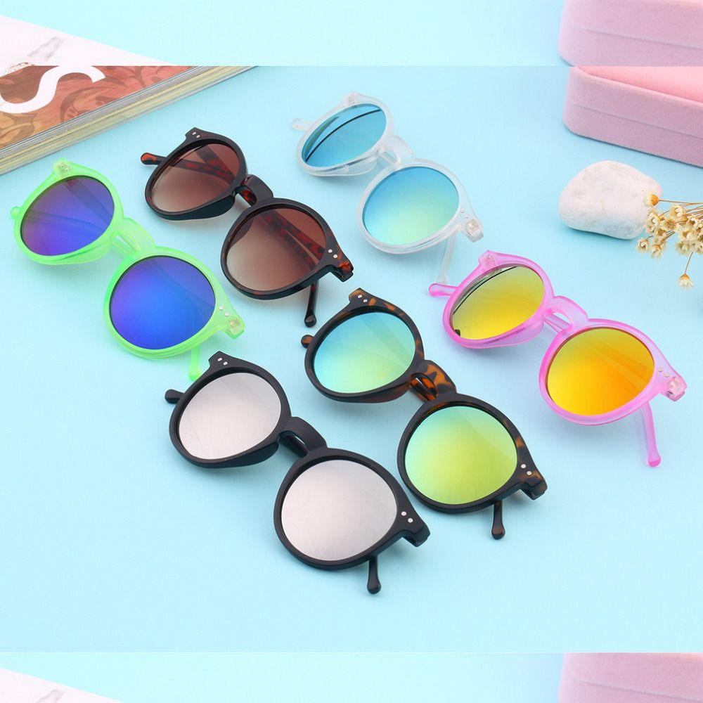 Fashion multicolour New mercury Mirror glasses men sunglasses women male female coating Sun glasses gold round Eyewear Glasses
