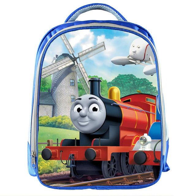 New Cartoon 13 Inch Blue Backpack Tomas School Bags For Little Cute Kids Bag Child School Backpack For Baby