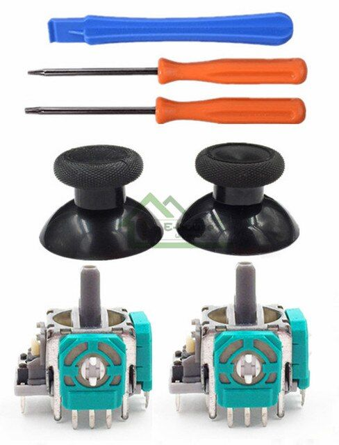 For Xbox One Controller 3D Analog Joysticks Replacement with Thumbsticks cap Torx T8 T6 Screwdrivers Repair Tool for Xbox 1