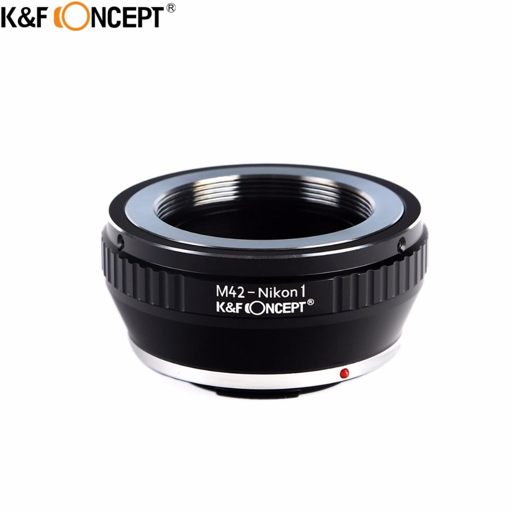 K&F CONCEPT For M42-Nikon 1 Metal Camera Lens Adapter Ring Fit For M42 Screw Mount Lens to for Nikon1 DSLR Camera Body