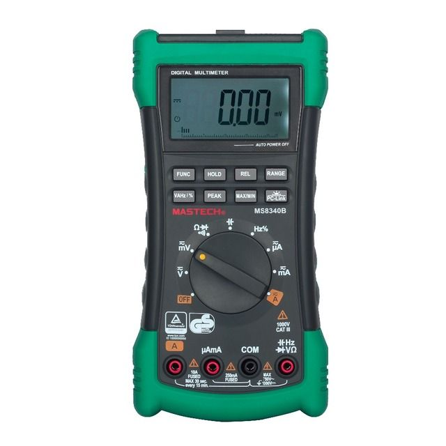 Genuine Mastech MS8340B High Precision 22000 Counts Digital Multimeter True RMS DMM Capacitance Hz Tester with USB Interface