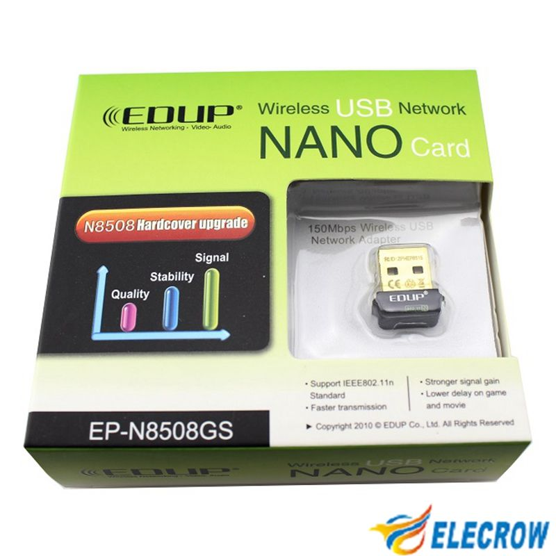 Elecrow WIFI Adapter EDUP EP-N8508GS Wireless Gold Mini USB EDUP 802.11b/g/n 150Mbps Internet WIFI Module for Raspberry Pi B+
