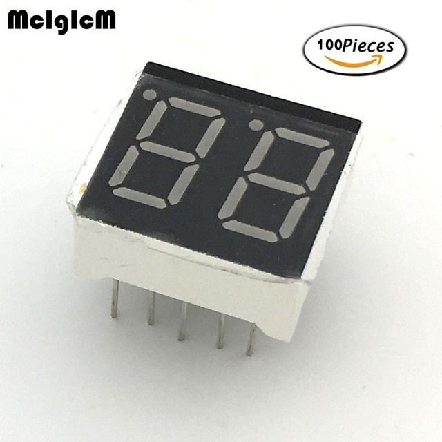 "MCIGICM 7 segment common Cathode 2 Bit digital Tube 0.36"" 0.36in. Red LED Display 7 segmentos LED Digital tube"
