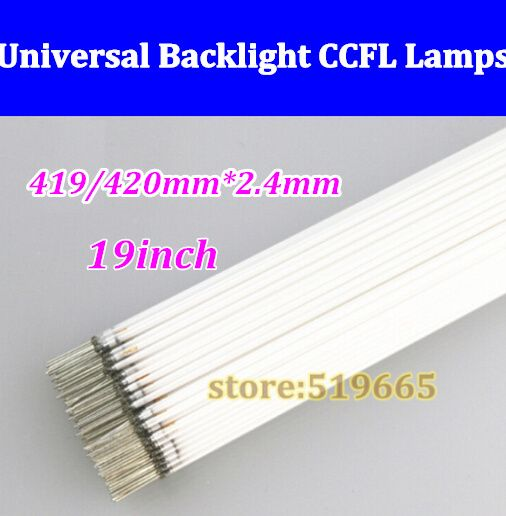 "150pcs High Quality NEW 2.4*419mm 2.4*420mm CCFL tube Cold cathode fluorescent lamps for 19"" 420 mm widescreen monitor LCD Lamp"