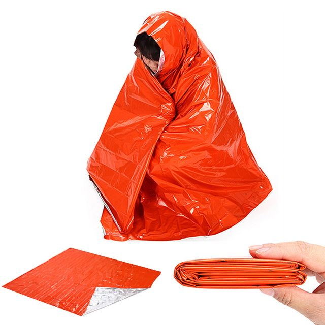 210*130cm Large Emergency Blanket Climbing Outdoor Survival Tools Rescue Equipment First Aid Mat Military Blanket