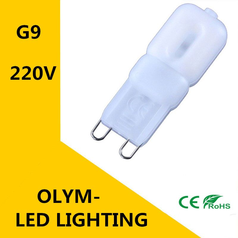 100X NEW Mini G9 LED lamp 220 V 230 V 240 V 5 W LED Lamps SMD2835 Corn Bulbs Chandelier Light Bright Spot!