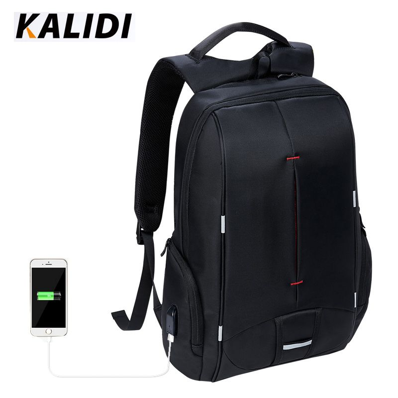 KALIDI Brand Waterproof Men Backpack Multifunction Travel Bag  School Bags  USB Charging Laptop Backpack For 11 to 15.6 inch