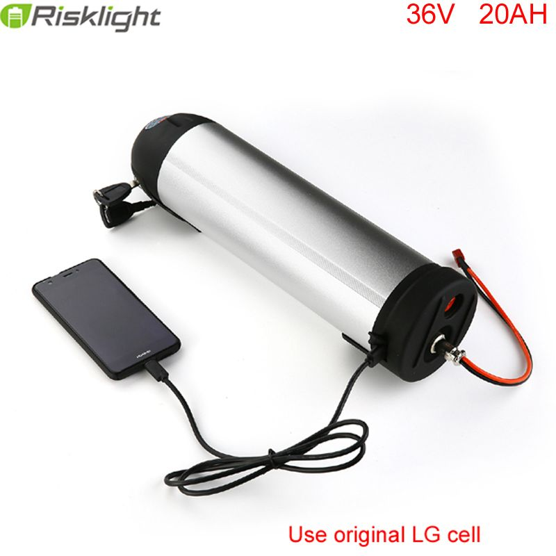 water bottle battery 36v 20ah lithium ion battery for 36V bafang 350w 500w electric bicycle potencia bicicleta For LG 18650 Cell