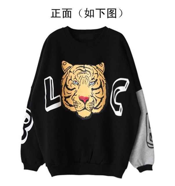 tiger sweatshirt crewneck sweatshirt tracksuits women 2017wear women Cotton tiger sweatshirt  50%off
