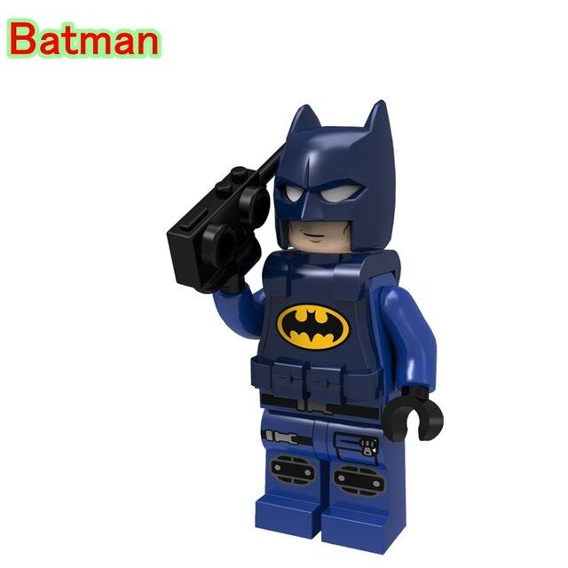 Police Batman with Cellphone DIY Movie Bricks Single Sale DC Superheroes Building Blocks Toys For Children PG182
