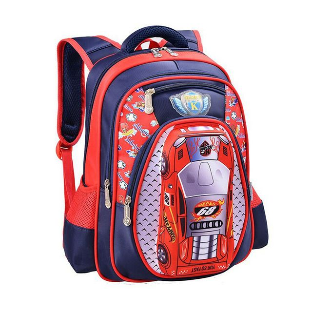2017 student School bag Waterproof Backpack Grade 1 - 3 school bags Child Kids 3D Cartoon Big Capacity Shoulder Bag with Flash