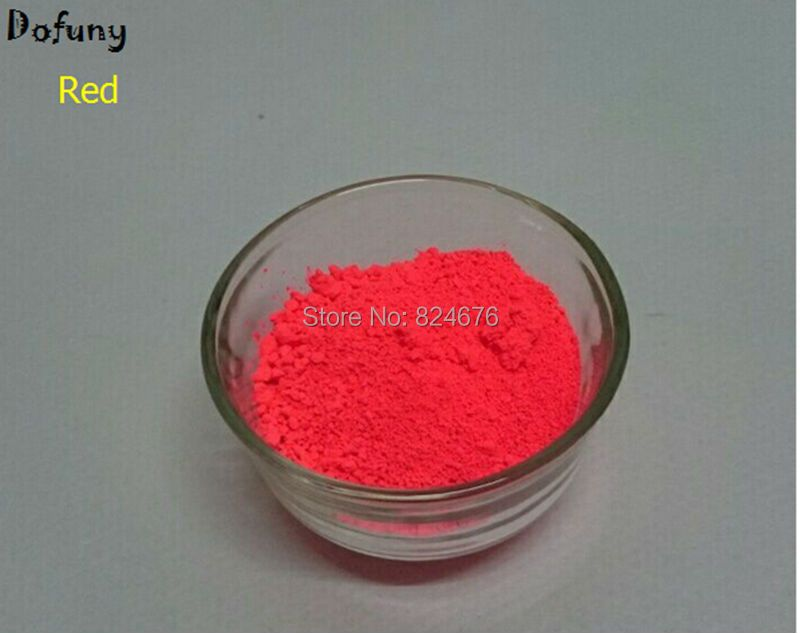 10# NEON Red Color  Fluorescent Pigment  for Printing,100g/lot Powder Fluorescence Painting Nail Art Make Up Lipstick