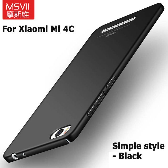 100% Original Msvii Brand Case for Xiaomi 4i  for mi 4c Luxury Smooth Oil Painting PC Cover for Xiaomi mi 4i Matte Back cover