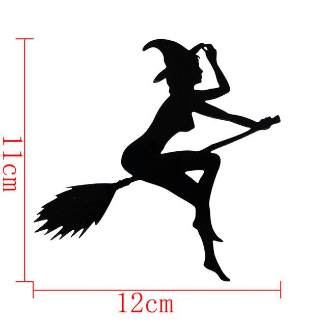 car-styling Witch Pattern 3D Car Stickers For focus opel renault car-covers Accessory Halloween Stickers For lada toyota bmw e46