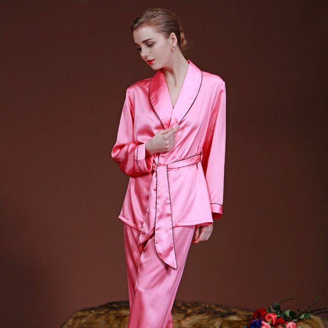 Sleep Shirt Women Imitation Silk Slip Chemise Female Nightshirt Nightwear Gown Nightie Long Nightgowns Dress for Home SY022#22