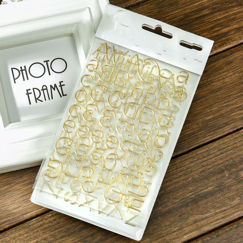 Creative Photo Gold Letters Decoration Self-adhesive Stickers for Scrapbooking/Card Making/Journaling Project DIY