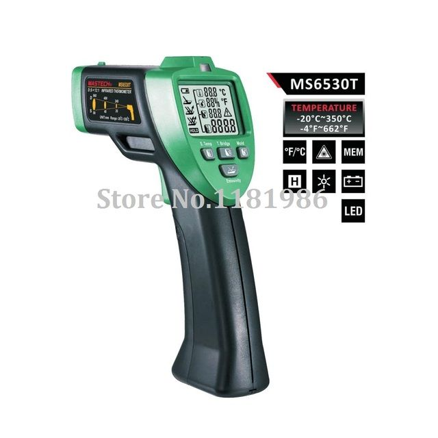MASTECH MS6530T 12:1 Digital Non-contact Infrared Thermometer Tester IR Laser Temperature Gun Meter Thermostat Range -20C~350C
