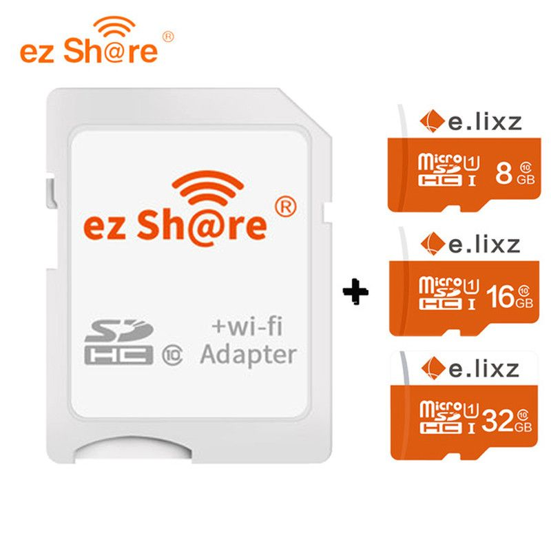 Free shipping ez Share Micro SD Adapter Wifi Wireless 8G 16G 32G Class 10 Memory Card TF MicroSD Adapter WiFi Cartao de memoria