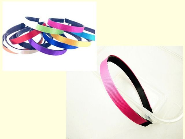 30pcs 15mm grosgrain Ribbon Lined plastic Black /white Headband with Teeth Headwear Headdress