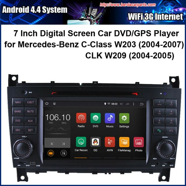 Android Car DVD player for Mercedes-Benz C-Class W203 CLK W209 with Radio GPS Navigation