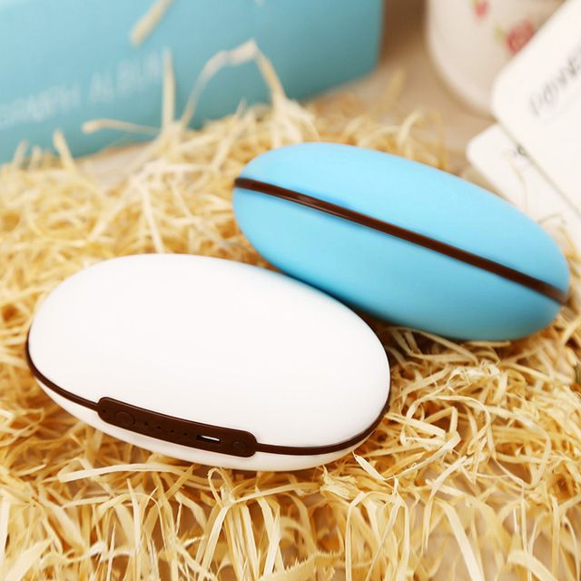 New Arrived Hand Warmer Rechargeable Hand Po Portable Mini Electric Heater USB Handwarmer 5200 mAH Mobile Power Pocket Warmer