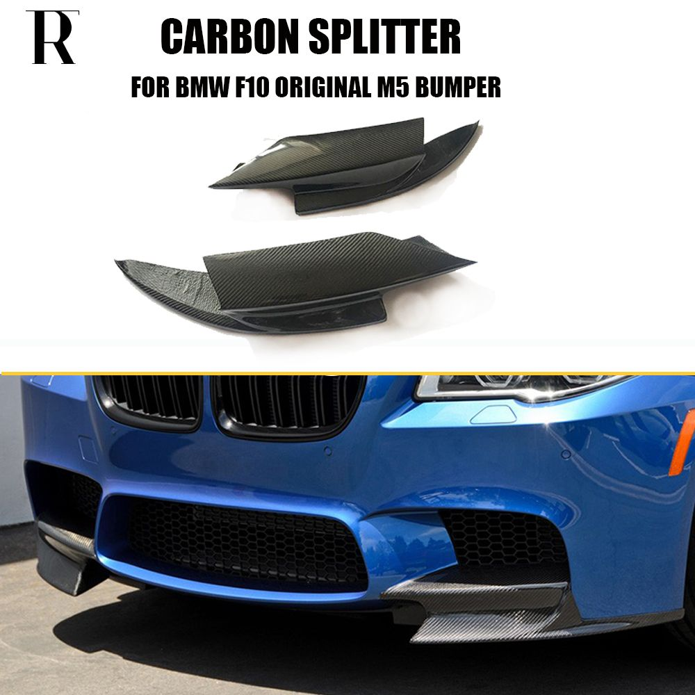 F10 M5 Carbon Fiber Front Bumper Side Splitter Apron for BMW F10 M5 Bumper Only ( Not for M5 look Bumper ) 2012 - 2016