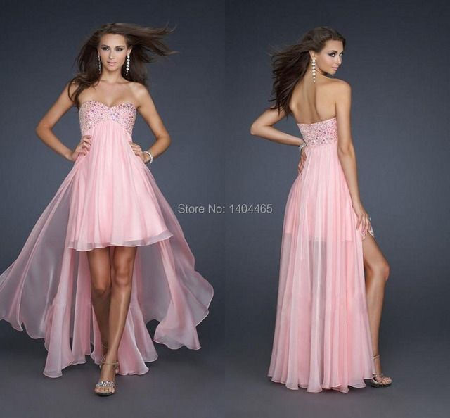 2016 Best-Selling Homecoming Dresses Long and Short in Front Elegant  A-Line Sweetheart  Off the Shoulder Chiffon With Crystals