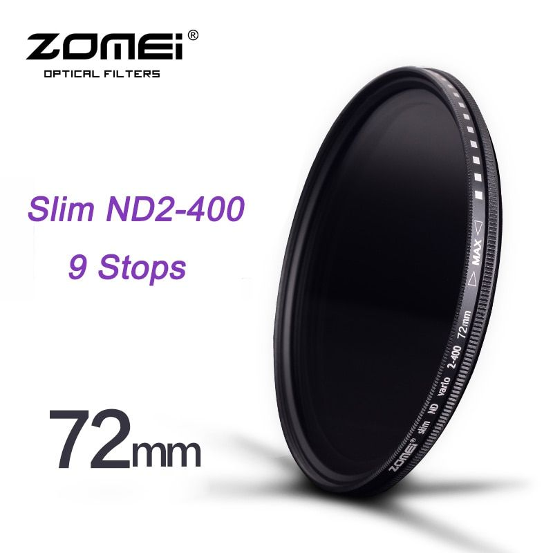 ZOMEI 72mm Slim Fader ND2 to ND400 ND2-400 Neutral Density Fading Control Filter for Canon NIkon Hoya Sony Camera DSLR Lens