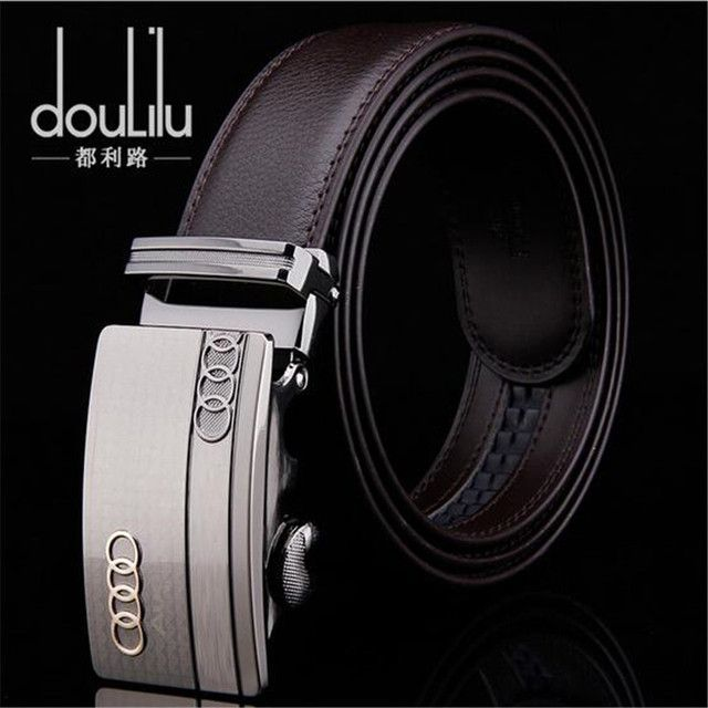 2016 New Designer Men's Genuine Leather Belts Luxury Automatic Buckle Business Belts For Men