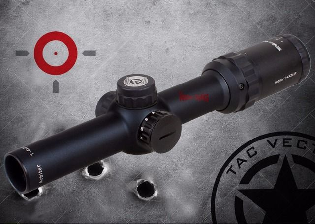 Vector Optics Shooting 1-4x24 Tactical Air Gun Real Firearms Clear Rifle Scope 30mm Tube High Quality Free Riflescope Mount Ring