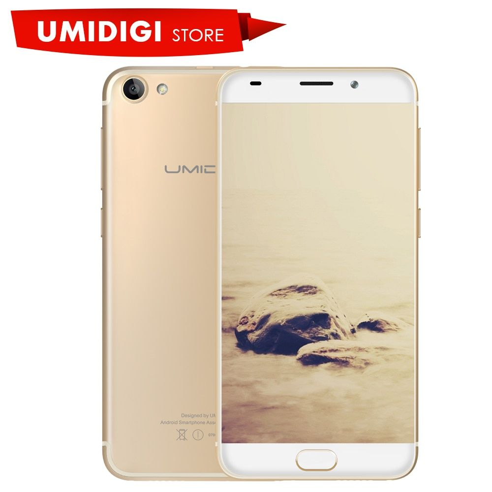 "Umidigi G Android 7.0 5.0"" Mobile Phone MTK6737 4G LTE Google Play Black Gold Dual Sim card Unlocked Global Version Cell Phone"